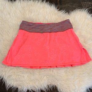 Lululemon Pace Setter Skirt Tennis Flash Jacquard